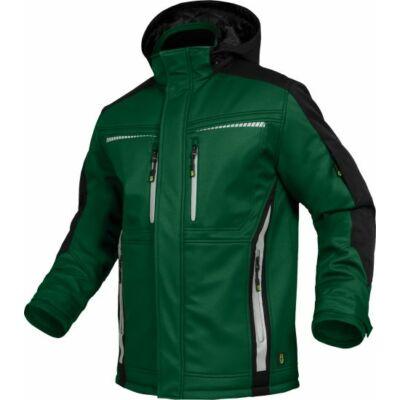 TRIUSO Flex-Line, Softshell kabát zöld/fekete FLEXI21