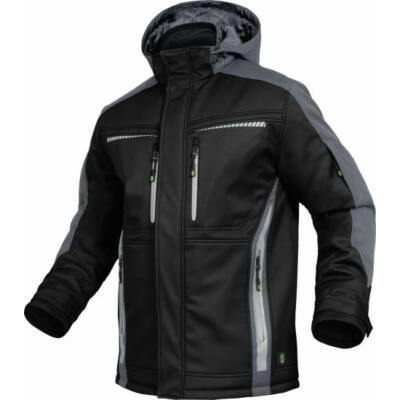 TRIUSO Flex-Line, Softshell kabát fekete/szürke FLEXI25